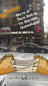 Example of Taco Bell sponsored geofilter