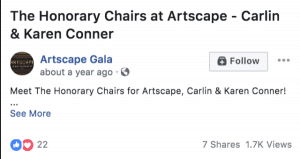 Artscape Gala Social Media Management & Marketing Marketing by Sooner Marketing Solutions a Digital Marketing Company