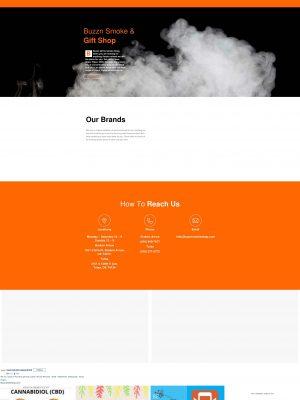 Buzzin Smoke, Vape, & CBD Shop Web Design Home Page