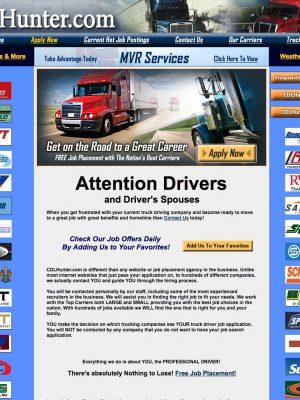 CDL Hunter Old Web Design