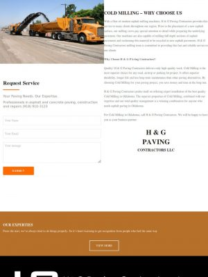 H&G Paving Web Design by Sooner Marketing Solutions a Digital Marketing Company
