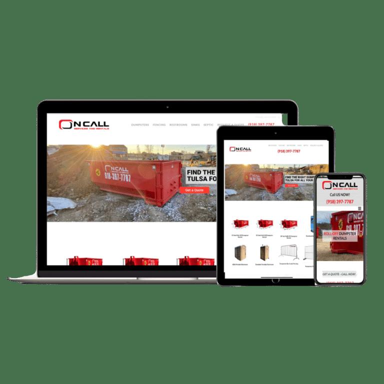 OnCall Services & Rentals Web Design