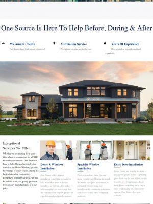 OneSource Windows & Doors Web Design After Sooner Marketing Solutions