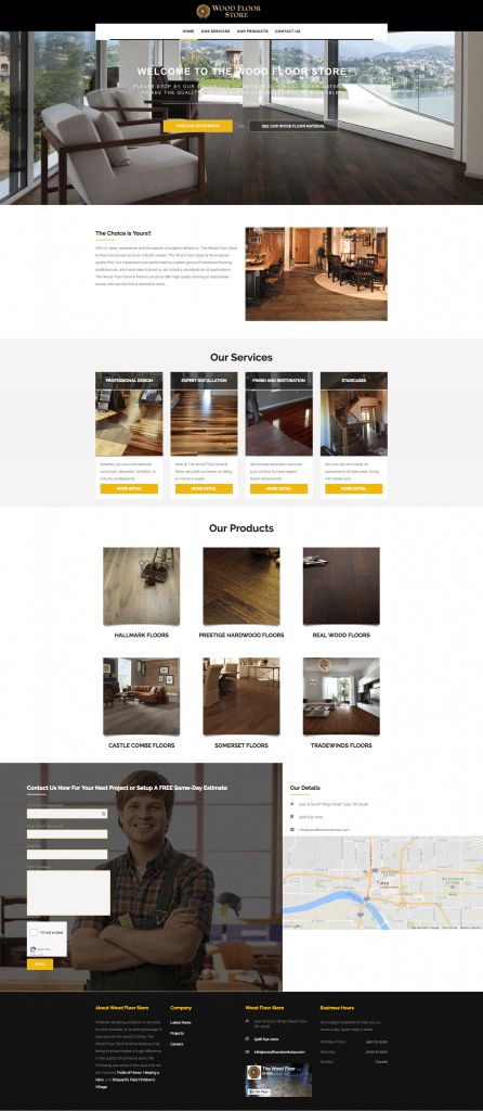 Wood Floor Store & More After Web Design by Sooner Marketing Solutions