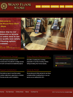 Wood Floor Store & More Before Web Design by Sooner Marketing Solutions