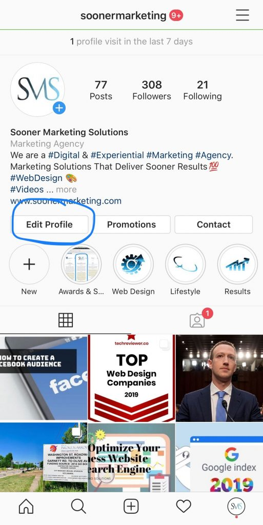 How to add a call to action button on Instagram