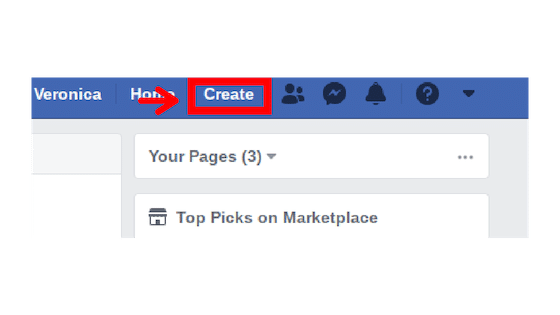 Step 1 to creating a Facebook Page.