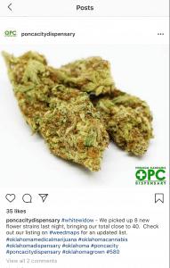 Ponca City Instagram post example