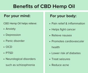 benefits of cbd both for the body and mind.