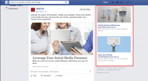 Facebook right column ads example
