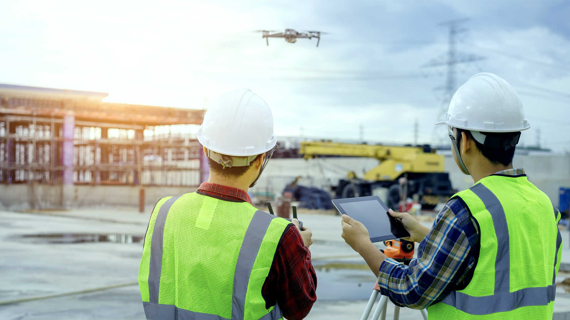 Aerial Drone Construction Site Monitoring Services by Sooner Marketing Solutions